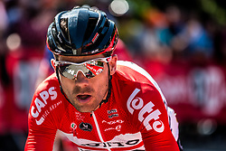 Rider of Lotto Soudal during the last climb at Mur de Huy of the 2018 La Flèche Wallonne race, Huy, Belgium, 18 April 2018, Photo by Pim Nijland / PelotonPhotos.com | All photos usage must carry mandatory copyright credit (Peloton Photos | Pim Nijland)