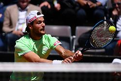 May 16, 2019 - Roma, Italia - Foto Alfredo Falcone - LaPresse.16/05/2019 Roma ( Italia).Sport Tennis.Internazionali BNL d'Italia 2019.Roger Federer (sui) vs Joao Sousa (por).Nella foto:Joao Sousa..Photo Alfredo Falcone - LaPresse.16/05/2019 Roma (Italy).Sport Tennis.Internazionali BNL d'Italia 2019.Roger Federer (sui) vs Joao Sousa (por).In the pic:Joao Sousa (Credit Image: © Alfredo Falcone/Lapresse via ZUMA Press)