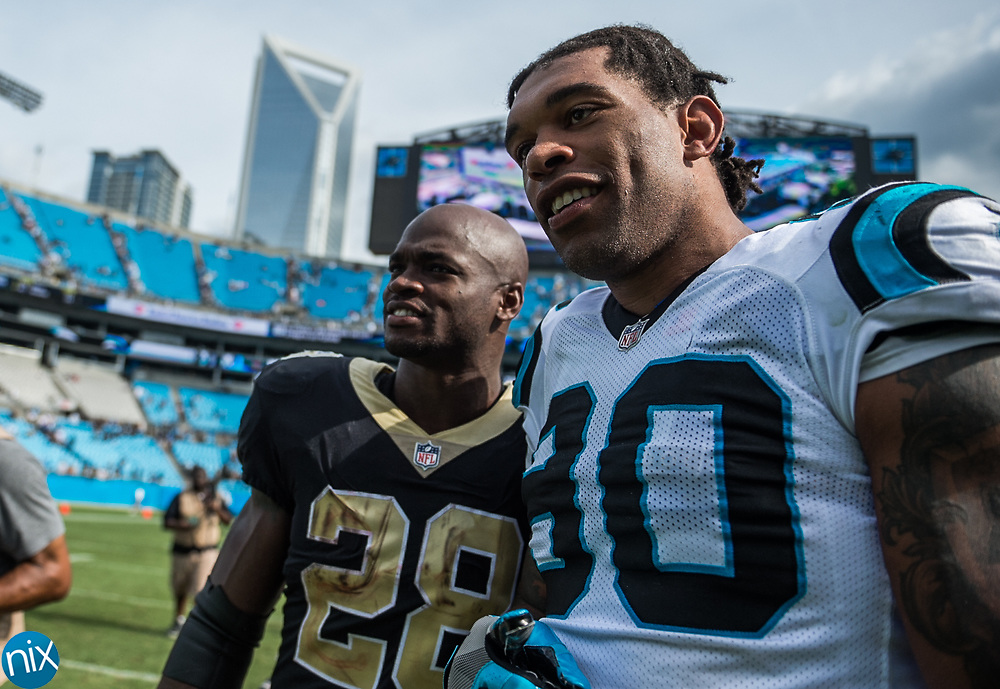 Carolina Panthers against the New Orleans Saints at Bank of American Stadium on Sunday, September 24, 2017 in Charlotte, NC.