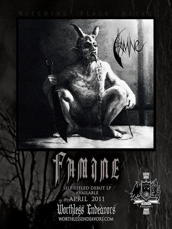 FAMINE LP NOW AVAILABLE. 180-200 gram vinyl includes huge download and poster. <br />