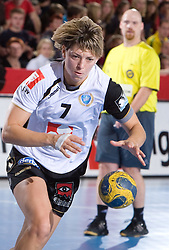 Maryna Vergelyuk of Krim at handball match of Round 2 of Champions League between RK Krim Mercator and Aalborg DH, on October 31, 2009, in Arena Kodeljevo, Ljubljana, Slovenia.  Krim won 30:23. (Photo by Vid Ponikvar / Sportida)