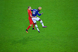 LIVERPOOL, ENGLAND - Monday, December 19, 2016: Liverpool's Ragnar Klavan in action against Everton's Romelu Lukaku during the FA Premier League match, the 227th Merseyside Derby, at Goodison Park. (Pic by Gavin Trafford/Propaganda)