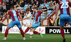Matt Godden of Peterborough United scores his second goal of the game - Mandatory by-line: Joe Dent/JMP - 13/10/2018 - FOOTBALL - Glanford Park - Scunthorpe, England - Scunthorpe United v Peterborough United - Sky Bet League One