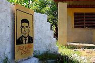 Sign in Candelaria, Artemisa, Cuba.