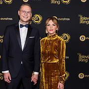 NLD/Amsterdam/20191009 - Uitreiking Gouden Televizier Ring Gala 2019, Luuk Ikkink en partner Simone Wijnands