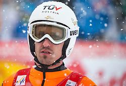 31.01.2016, Casino Arena, Seefeld, AUT, FIS Weltcup Nordische Kombination, Seefeld Triple, Skisprung, im Bild Lukas Klapfer (AUT) // Lukas Klapfer of Austria reacts after his Competition Jump of Skijumping of the FIS Nordic Combined World Cup Seefeld Triple at the Casino Arena in Seefeld, Austria on 2016/01/31. EXPA Pictures © 2016, PhotoCredit: EXPA/ Jakob Gruber