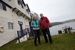 UK ENGLAND FOWEY 19FEB15 - Kits Browing, son of Daphne du Maurier and Tatiana De Rosnay (L) at his house Ferryside in Fowey, Cornwall, England. <br /> <br /> Fowey, a small fishing and harbour village was the living place of famous English writer Daphne Du Maurier and many of her novels are based here.<br /> <br /> jre/Photo by Jiri Rezac<br /> <br /> © Jiri Rezac 2015