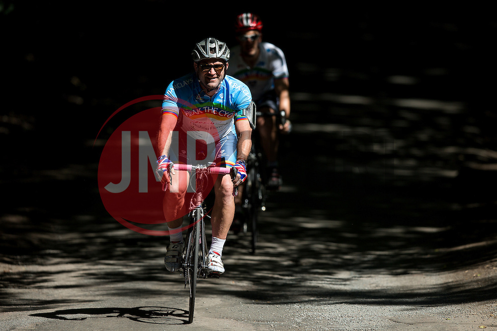 Ben Breeze and other Cyclists take part in Break The Cycle, a 111 mile charity bike ride organised by the Bristol Rugby and Gloucester Rugby Community Foundations - Mandatory byline: Rogan Thomson/JMP - 03/07/2016 - CYCLING - Ashton Gate Stadium - Bristol, England - Break The Cycle Challenge 2016.