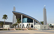 General overall view of the Mosque at the Aspire Zone in Doha, Qatar, Friday, April 20, 2019. Doha will play host to the 2019 IAAF World Championships in Athletics and 2022 FIFA World Cup. (Jiro Mochizuki/Image of Sport via AP)