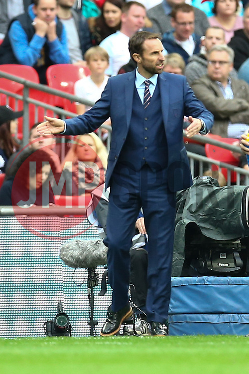 England interim manager Gareth Southgate gestures from the edge of the pitch - Mandatory by-line: Jason Brown/JMP - 08/10/2016 - FOOTBALL - Wembley Stadium - London, United Kingdom - England v Malta - FIFA European World Cup Qualifiers