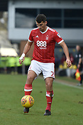 Nottingham Forest defender Eric Lichaj (2) during the EFL Sky Bet Championship match between Burton Albion and Nottingham Forest at the Pirelli Stadium, Burton upon Trent, England on 17 February 2018. Picture by Richard Holmes.