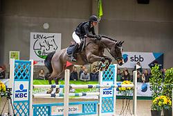 Meessens Anouk, BEL, Atlantic M Z<br /> Klasse Licht<br /> Nationaal Indoor Kampioenschap Pony's LRV <br /> Oud Heverlee 2019<br /> © Hippo Foto - Dirk Caremans<br /> 09/03/2019