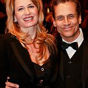 NLD/Amsterdam/20110322 - Premiere Black Butterflies, Robert Schoemacher en partner Claudia van Zweden