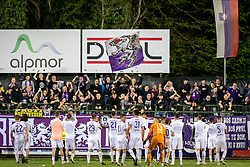 Players of NK Maribor celebrating with fans after football match between NŠ Mura and NK Maribor in semifinal Round of Pokal Telekom Slovenije 2018/19, on April 24, 2019 in Fazanerija, Murska Sobota, Slovenia. Photo by Blaž Weindorfer / Sportida