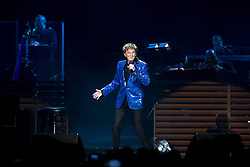 © Licensed to London News Pictures . 18/05/2014 . Phones4U Arena, Manchester , UK . Barry Manilow performs at the Phones4U Arena in Manchester . Photo credit : Joel Goodman/LNP