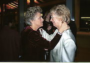 Dame Vivien Clore and Elaine Padmore. Gala opening of the Royal Opera House. Covent Garden. 1 December 2001. © Copyright Photograph by Dafydd Jones 66 Stockwell Park Rd. London SW9 0DA Tel 020 7733 0108 www.dafjones.com