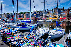 A market stall by the harbour in Honfleur, Normandy, France