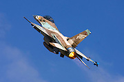 Israeli Air Force F-16A Netz Fighter jet.