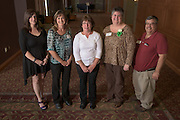 Staff with ten years of service pose for a portrait during the 48th Annual Classified Staff Service Awards in Baker Center Ballroom on Friday, October 14, 2016.