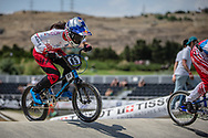 Women Elite #85 (HATAKEYAMA Sae) JPN at the 2018 UCI BMX World Championships in Baku, Azerbaijan.