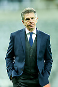 Leicester City manager Claude Puel arrives ahead of the Premier League match between Newcastle United and Leicester City at St. James's Park, Newcastle, England on 9 December 2017. Photo by Craig Doyle.