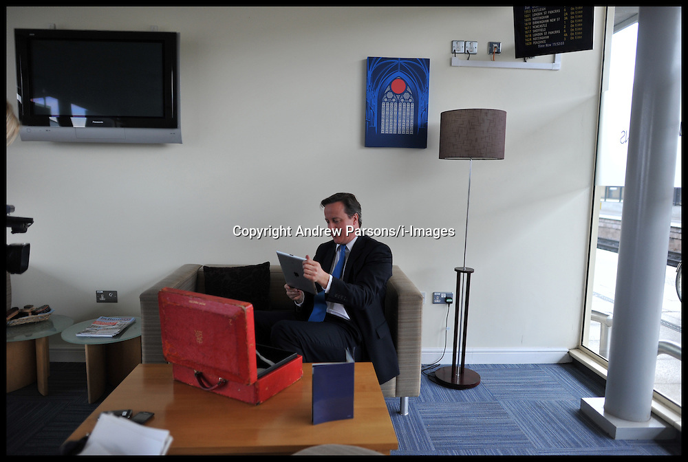 File Photo - Prime Minister David Cameron leaves official red box behind on train.<br />