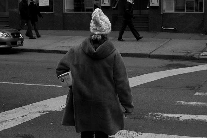 Lady walks across street carrying her Pepsi www.andersonsmithphotography.net