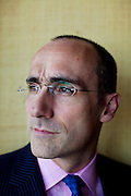 "Arthur C. Brooks, 46, President of the American Enterprise Institute and author of the book ""The Battle: How the Fight between Free Enterprise and Big Government Will Shape America's Future"" in his Washington, DC office on Tuesday, June 8, 2010."