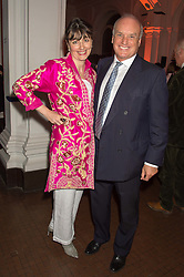 NICHOLAS & GEORGIA COLERIDGE at a dinner to celebrate Sir David Tang's 20 year patronage of the Royal Academy of Arts and the start of building work on the Burlington Gardens wing of the Royal Academy held at 6 Burlington Gardens, London on 26th October 2015.