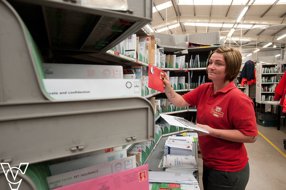 Pictured is Susie Holden<br /> <br /> Royal Mail - North West Delivery Office.  Bronze in the World Class Mail Awards.<br /> <br /> Date: April 28, 2015