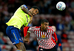 Tom Huddlestone of Derby County challenges Lewis Grabban of Sunderland - Mandatory by-line: Matt McNulty/JMP - 04/08/2017 - FOOTBALL - Stadium of Light - Sunderland, England - Sunderland v Derby County - Sky Bet Championship