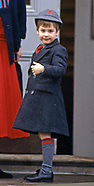Prince William's 1st Day At Wetherby School, London