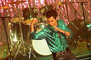Setbezoek Mijn Vader Is Een Detective 3: De Competitie<br /> <br /> De opnamen waren in het Pop en Cultuurpodium P3, Purmerend<br /> <br /> Op de foto:  opnamen van een scene met zanger Jeronimo