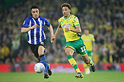 Norwich City defender Jamal Lewis (12) during the EFL Sky Bet Championship match between Norwich City and Sheffield Wednesday at Carrow Road, Norwich, England on 19 April 2019.