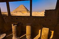 Mortuary Temple, Step Pyramid of King Zoser, Saqqara, Egypt