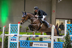 De Cock Thomas, BEL, Jolie van't Hof Te Ruyte<br /> Nationaal Indoorkampioenschap  <br /> Oud-Heverlee 2020<br /> © Hippo Foto - Dirk Caremans