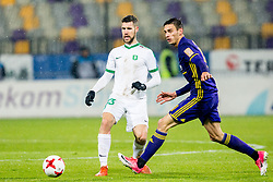 Kenan Bajric of NK Olimpija Ljubljana during football match between NK Maribor and NK Olimpija Ljubljana in 2nd leg match in Quaterfinal of Slovenian cup 2017/2018, on November 29, 2017 in Ljudski vrt, Maribor, Slovenia. Photo by Ziga Zupan / Sportida