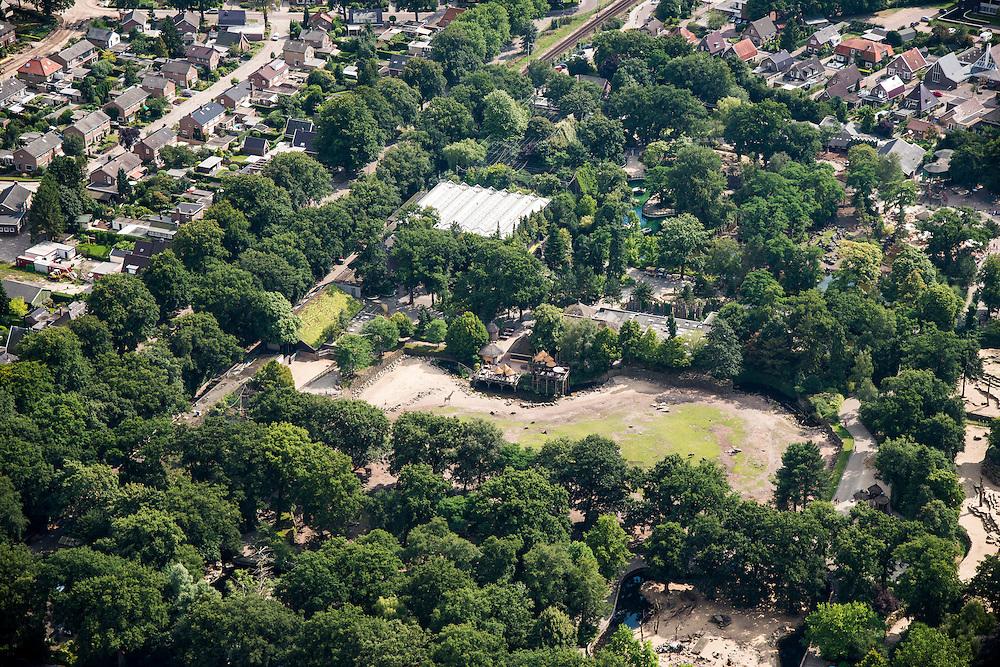 Nederland, Drenthe, Emmen, 27-08-2013; <br /> Dierenpark Emme. (v/h Noorder dierenpark.<br /> The Zoo of Emmen.<br /> luchtfoto (toeslag op standaard tarieven);<br /> aerial photo (additional fee required);<br /> copyright foto/photo Siebe Swart.