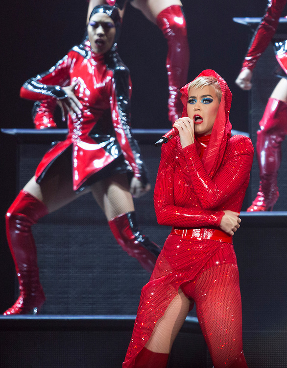 """Katy Perry performs on stage at the """"Witness: The Tour"""" concert at the Staples Center on Tuesday, Nov. 7, 2017, in Los Angeles. (Photo by Willy Sanjuan/Invision/AP)"""