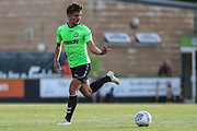 Forest Green Rovers Liam Shephard(2) on the ball during the Pre-Season Friendly match between Forest Green Rovers and Leeds United at the New Lawn, Forest Green, United Kingdom on 17 July 2018. Picture by Shane Healey.