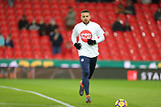 Nicholas Otemendi during the Premier League match between Stoke City and Manchester City at the Bet365 Stadium, Stoke-on-Trent, England on 12 March 2018. Picture by Graham Holt.