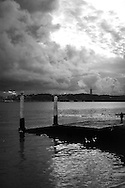 The Tagus River near downtown Lisbon.