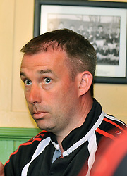 Goalkeeper in 2005 Martin McGreal discussing Westport United's historic FAI Junior Cup win.<br /> Pic Conor McKeown