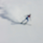 Abstract Impressions of Sport.Skier, Winter Olympics