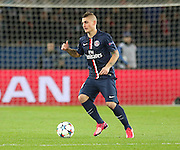 Paris Saint-Germain Marco Verratti during the Champions League match between Paris Saint-Germain and Chelsea at Parc des Princes, Paris, France on 17 February 2015. Photo by Phil Duncan.
