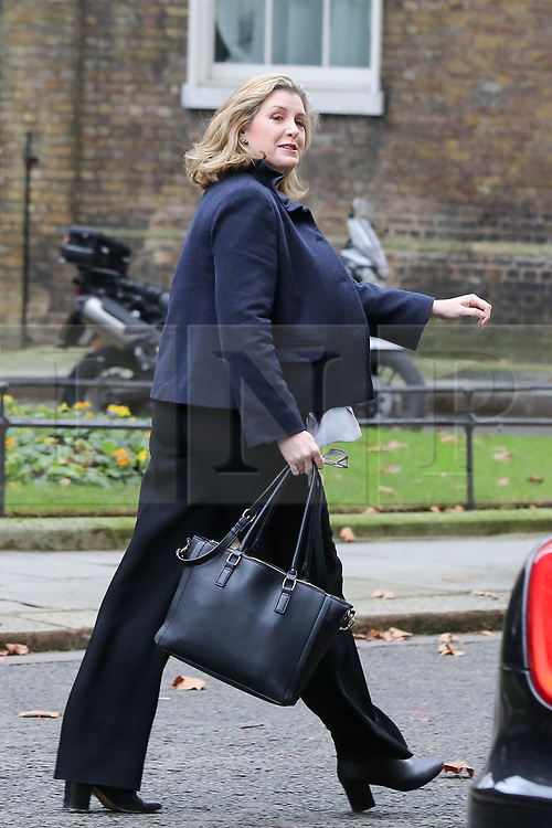 """© Licensed to London News Pictures. 18/12/2018. London, UK. Penny Mordaunt - Secretary of State for International Development and Equalities Minister departs from No 10 Downing Street after attending the weekly Cabinet Meeting that discussed the preparations for a """"No Deal"""" Brexit. Photo credit: Dinendra Haria/LNP"""
