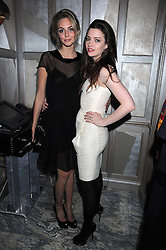 Left to right, TAMSIN EGERTON and TALLULAH RILEY at a party for Yves Saint Laurent's Creative Director Stefano Pilati given by Colin McDowell held at The Connaught Bar, The Connaught, Mount Street, London on 29th October 2008.