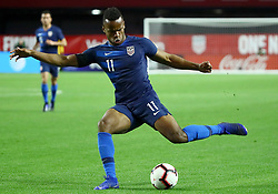 January 27, 2019 - Glendale, AZ, U.S. - GLENDALE, AZ - JANUARY 27: United States of America forward Jeremy Ebobisse (11) shoots the ball during the international friendly between the United States Men's National Team and Panama on January 27th, 2019 at State Farm Stadium in Glendale, AZ (Photo by Adam Bow/Icon Sportswire) (Credit Image: © Adam Bow/Icon SMI via ZUMA Press)