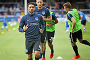 Portsmouth midfielder Danny Rose (4) warming up before the EFL Sky Bet League 1 match between Peterborough United and Portsmouth at London Road, Peterborough, England on 15 September 2018.