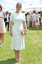 Lady Kitty Spencer at Cartier Queen's Cup Polo, Guard's Polo Club, Berkshire, England. 18 June 2017.